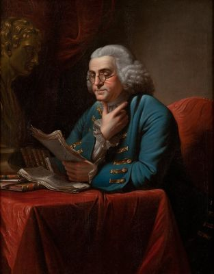 Charles Willson Peale, Portrait of Benjamin Franklin, 1772