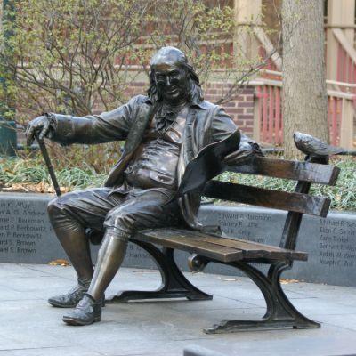 George Lundeen, Benjamin Franklin Statue