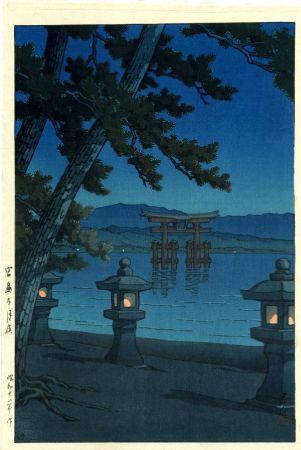 Hasui Kawase, Night Scene at Miyajima Shrıne, 1947