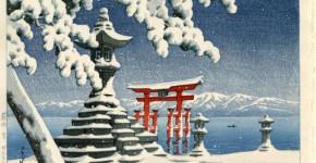 Hasuı Kawase, Snow At Itsukushıma, 1932 (1)