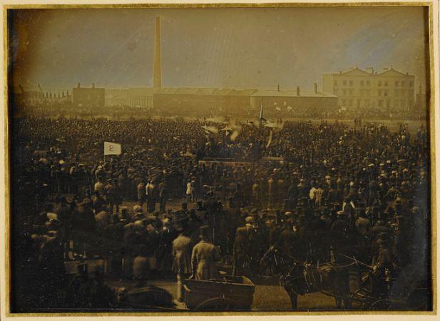 William Edward Kılburn fotoğrafı, Çartizm Hareketinin düzenlediği miting