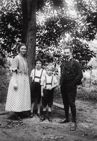 Elfride, Martin Heidegger, Jörg, Hermann, 1928