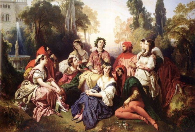 Franz Xaver Winterhalter, The Decameron, 1837