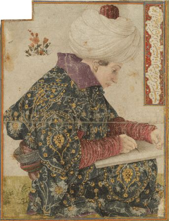 Gentile Bellini, A Seated Scribe, 1479-81