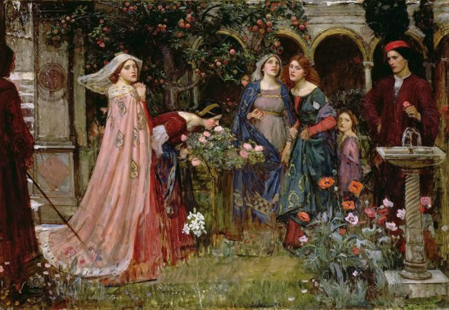 John William Waterhouse, The Enchanted Garden, 1916-17