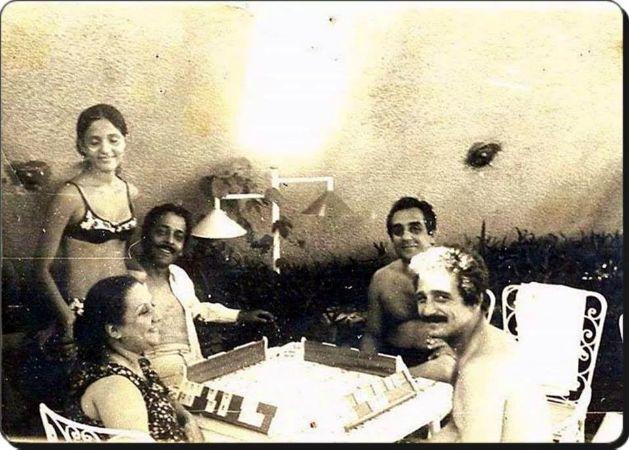 1968, kızı ve arkadaşlarıyla