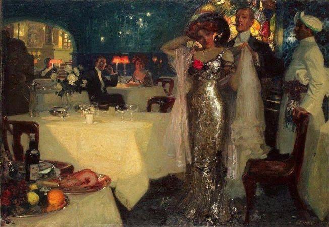 Charles C. J. Hoffbauer, In the Restaurant,