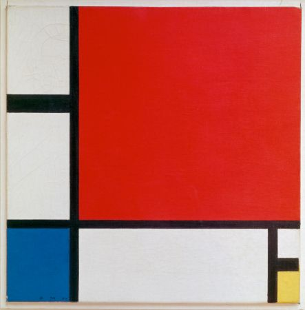 Piet Modrian, Composition with Red,