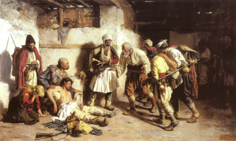 The Wounded Montenegrin , 1882