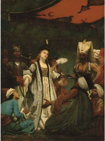 Gustave-Clarence-Rodolphe Boulanger, Catherine I of Russia Negotiating the Treaty of Prut with the Turks, 1866