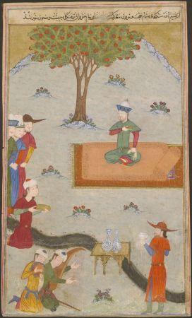 Timur, Delhi'yi Fethetmesini Kutluyor. 1436, Şerefüddin Ali Yezdî'nin Zafername'sinden