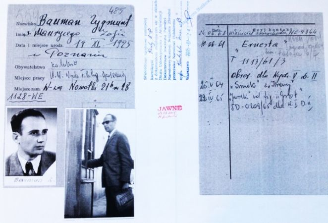 Polonya gizli polisinin arşivlerinden Zygmunt Bauman hakkında fotoğraflar ve notlar