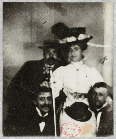 Solda Marcel Proust ve Reynaldo Hahn, Maria Hahn de Madrazo ve Federico de Madrazo, 1895