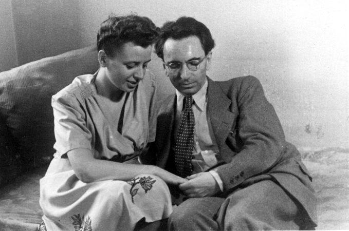 İkinci eşi Eleonore Katharina Schwindt ile, 1948