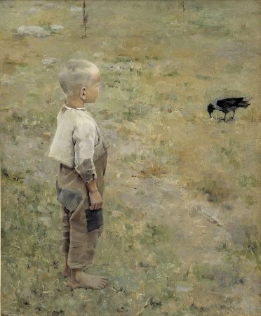 Akseli Gallen-Kallela, Boy with a Crow, 1884