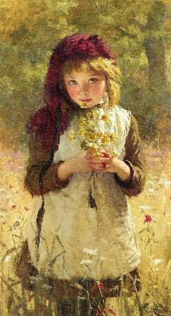 George Elgar Hicks, Buttercups, 1889