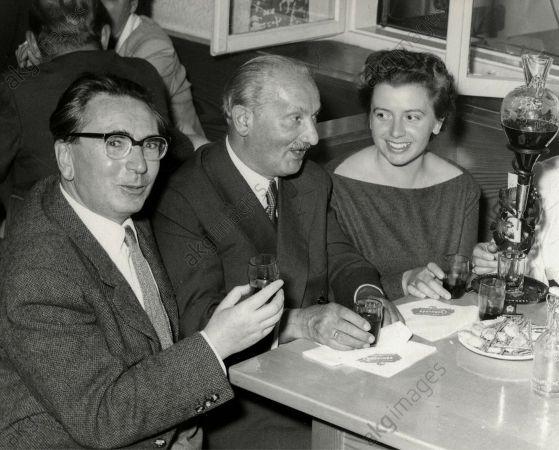 Victor Frankl, Martin Heidegger, eşi Eleonore Frankl, 1955