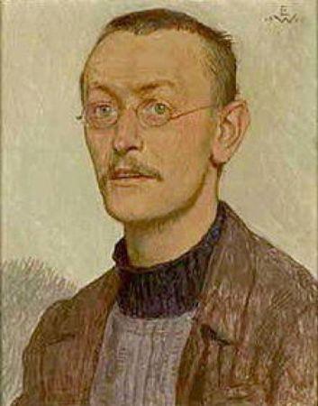 Ernst Würtenberger, Bildnis Hermann Hesse. Brustbild, 1905