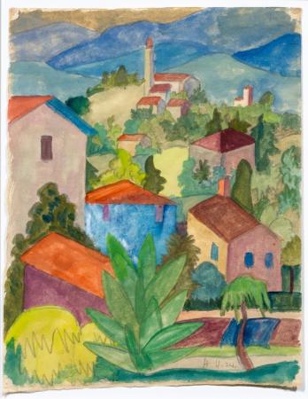 Herman Hesse, Tincio Landscape, 1924