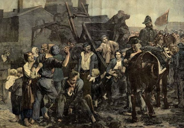 Alfred Philippe Roll, The Miners Strike
