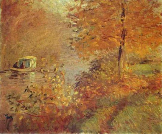 Claude Monet, The Studio Boat 2,