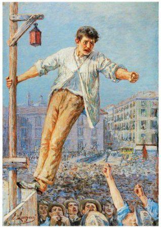 Emilio Longoni, The Speaker At The Strike, 1891