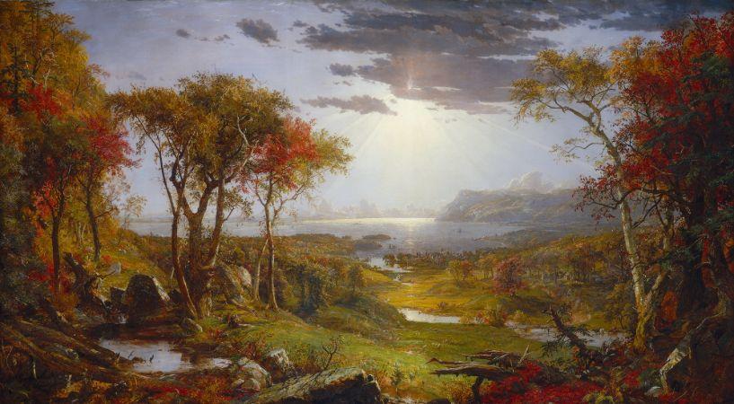 Jasper Francis Cropsey, Autumn On The Hudson River