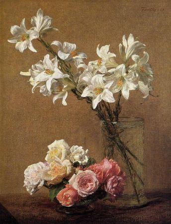 Henri Fantin-Latour, Roses and Lillies