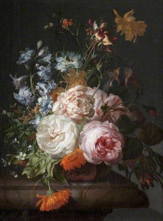 Rachel Ruysch, Flowers in a Terracotta Vase