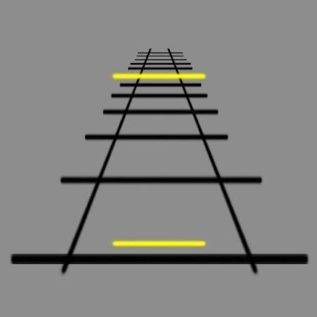 Sarı Ve SiyahÇizgilerden Oluşan Optik İllüzyon