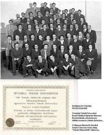 Demirel Ve İTÜ Diplomadı