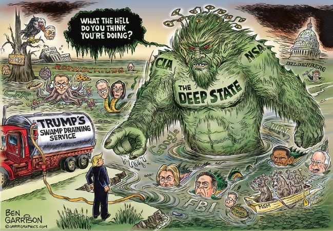 GrrrGraphics ART, Drain the Deep State Swamp