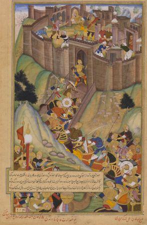 Alamut Kalesi'nin Moğollar tarafından kuşatmasını gösteren bir minyatür.