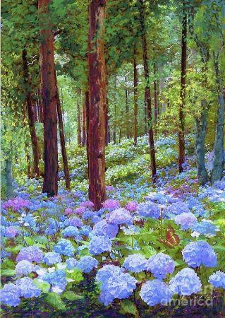 Jane Small, Endless Summer Blue Hydrangeas