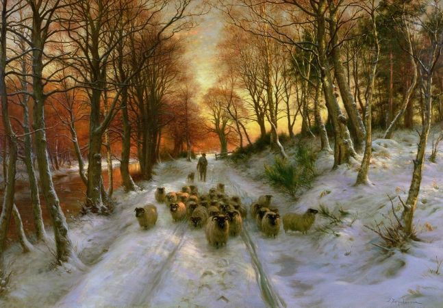 Joseph Farquharson, Glowed with Tints of Evening Hours