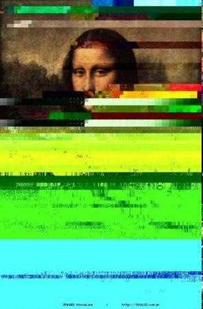 Luziano Testi Paul, JPEGged Mona Lisa, 2003 (Glitch)