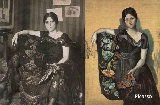 Picasso'nun Resmi ve Fotoğraf Boyama Tekniği Uygulaması