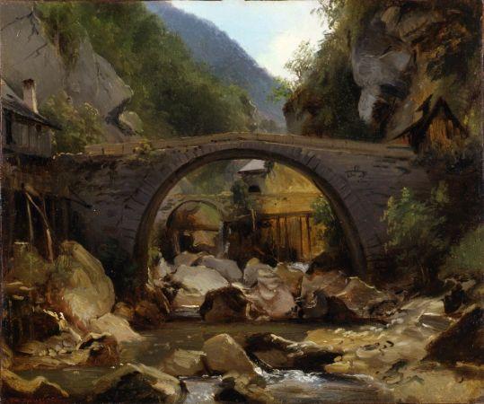Théodore Rousseau, Mountain Stream in the Auvergne